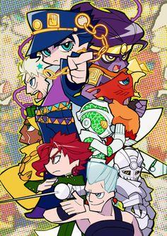 JoJo & Bizarre with Adventure. Jojo's Adventure, Jojo Bizzare Adventure, Jojo's Bizarre Adventure Stands, Bizarre Art, Jojo Bizarre, Fanart, Jojo Stardust Crusaders, Manga Anime, The Ancient Magus Bride