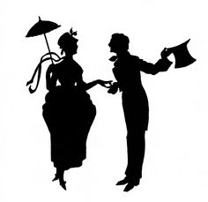 Vintage couple silhouette
