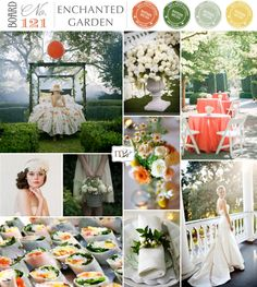 grey, green and tangerine wedding colour scheme - orange, green, moss & mustard