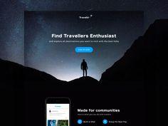 Exploration - Travelio Landing Page by Aji