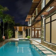 contemporary pool by kevin akey