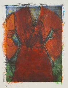 RA Summer Exhibition 2015 work 580 :ROBE WITH WASP NEST by Jim Dine Hon RA, £7000.