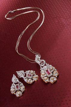 Diamond Pendant From Manubhai Jewellers