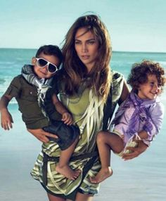 J Lo with twins, Maxx & Emme