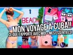 CE QUE J'APPORTE EN VOYAGE!! + Cuba 2016! | Emma Verde - YouTube Emma Verde, Youtubers, Family Guy, Film, Beach, Fictional Characters, Summer, Inspiration, Ideas