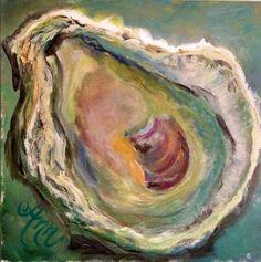 Oyster Shell; Art; Painting; Ann Lutz