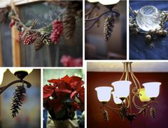 decorating with pinecones