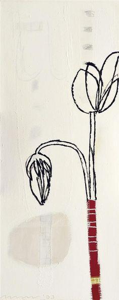 lolafiesta:  Marise Maas, Last Autumn (2003 / Oil on canvas, 110.5 x 45.5cm)