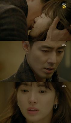 """""""That Winter, The Wind Blows"""" Song Hye Kyo and Jo In Sung's Emotional Kiss """"It's My Fault for Loving You"""""""