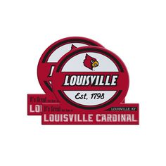 Louisville Cardinals Jumbo Tailgate Magnet 2-Pack, Multicolor