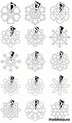 DIY : Paper Snowflakes Templates by Hairstyle Tutorials - Christmas DIY Holiday Fun, Christmas Holidays, Christmas Ornaments, Christmas Snowflakes, Christmas Paper, Paper Art, Paper Crafts, Diy Crafts, Paper Toys
