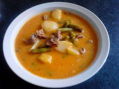 "Palóc soup - Palóc leves - ""Csak úgy, mint otthon"" Goulash, Thai Red Curry, Stew, Cook Books, Meals, Cooking, Ethnic Recipes, Food, Baking Center"