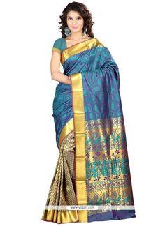 Thrilling Art Silk Blue Traditional  Saree Model: YOSAS0037