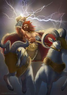 God of Thunder Art Viking, Viking Warrior, Norse Mythology Tattoo, Thor Norse, Captain Marvel Shazam, Bracelet Viking, Asgard, Nordic Tattoo, The Mighty Thor