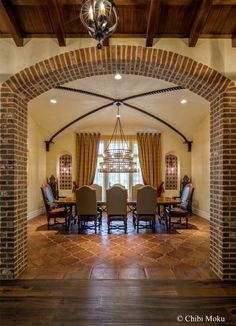 Photo of the Day (June 25, 2015) -  Architecture Spotlight # 18   Ravello   Windermere, FL  See the whole video story for Ravello here https://youtu.be/tIMkuT8Dr4Y  #interiordesign #diningroom #chandelier