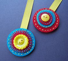Primary felt bookmark by soleilgirl, via Flickr