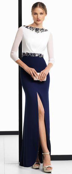 Fascinating Chiffon & Spandex Bateau Neckline 3/4 Length Sleeves Sheath / Column Evening Dress With Beadings