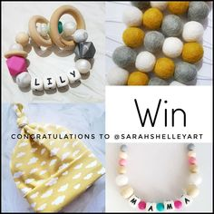 """8 Likes, 2 Comments - Teething Jewellery/Accessories (@mummysbubble) on Instagram: """"🌟CONGRATULATIONS🌟our giveaway winner is @sarahshelleyart. Thank you all to everyone that took part…"""""""