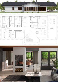 Architecture, Home Plan, House Plans, House Designs, Houses Architecture, Futuristic Architecture, Architecture Design, Small House Plans, Beach House Floor Plans, Sims House, Farmhouse Plans, Home Design Plans, Bungalow