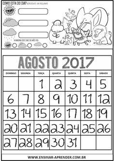 CALENDÁRIOS 2017 SAFARI | Cantinho do Educador Infantil