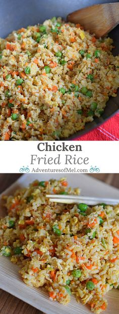 Chicken Fried Rice is one of my favorite things to order when we go out to eat. Now we make it at home, thanks to my husband's delicious recipe, and it's so much better than takeout. Plus you can use the leftovers to make Chicken Fried Rice Spring Rolls, yet another one of our favorite Asian foods!