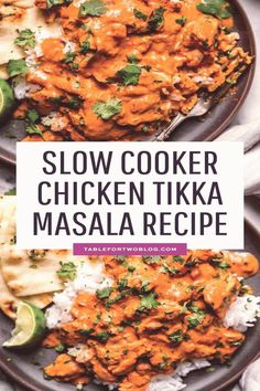 #Chicken #tikka #marsala #home #chicken This slow cooker chicken tikka masala is a classic Indian dish that you can make in the slow cooker so its waiting for you when you get homebrp classfirstletterYou are on the site with the highest content about chickentikkamasalapA quality figure can tell you many things You can find the largest appealingly impression that can be presented to you about slowcookerrecipes in this account When you look at our dashboard there are the biggest liked… Poulet Tikka Masala, Slow Cooker Tikka Masala, Pollo Tikka, Garam Masala, Crock Pot Recipes, Chicken Breast Recipes Slow Cooker, Kid Recipes, Healthy Slow Cooker, Food Dinners