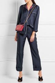 Silk-twill pajama set, Prada