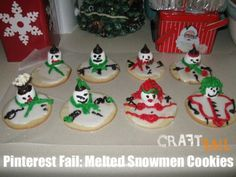 Melted Snowmen cookie fail