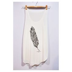 Bird Down Feather Tank Top Woman White Cream T-Shirt Tee Shirt Singlet Vest BUY 2 GET 1 FREE by pingypearshop on Etsy https://www.etsy.com/listing/216516306/bird-down-feather-tank-top-woman-white