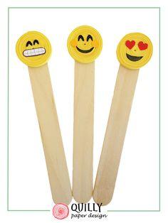 """segnalibri in carta """"emoticon"""" : Segnalibri di quilly-paper-design"""