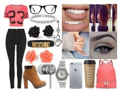 """""""School"""" by aaliyahsalmon ❤ liked on Polyvore featuring Michael Kors, Moschino, Charlotte Russe, Muse, Sephora Collection, xO Design, Marc by Marc Jacobs, Kate Spade, Topshop and Bling Jewelry"""