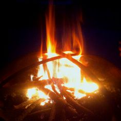 Fire--love a camp fire