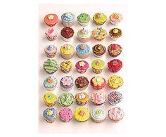 2-delig fotobehang Cupcakes, multicolour, 232 x 158 cm