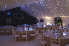 A winter wedding scene from December 2012. Limewash Chiavari chairs. Beautiful marquee and furniture.