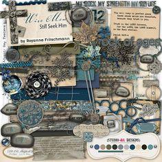 Digital Scrapbook Kit  Wise Men Still Seek Him 12 | Christian Faithbooking Series by Royanna Fritschmann on Etsy, $5.98
