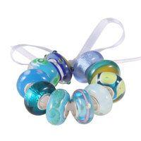 pandora style glass beads - fit pandora, carlo biagi, troll, chamilia, chrysalis, charmlinks bracelets