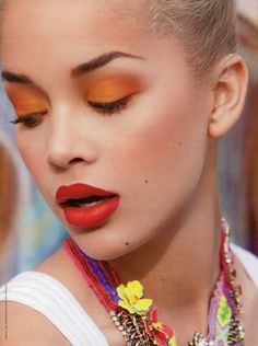 not sure if I'd try orange eyeshadow, but it's beautiful!