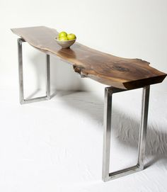 Black Walnut Riser Console Table - side tables and accent tables - seattle - ELPIS