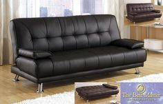 Leather Sleeper Futon Couches Design Ideas