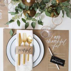 DIY Thanksgiving Table Setting + Placemat | Oh My Deer | Chelsea Petaja