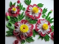 Blumen aus Papier selber machen. Quilling Technik - YouTube