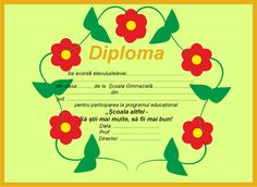 "Diplome pentru ""Școala altfel"" 1 Decembrie, School, Character, Decor, Mantle, Decoration, Decorating, Lettering, Deco"