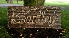 BRANTLEY 42 Rope Name Sign Western Country Cowboy by RopeAndStyle western room boy.