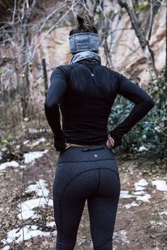 Lululemon winter running outfit