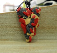 clay heart! Handmade Necklaces, Strawberry, Clay, Pendants, Pendant Necklace, Fruit, Heart, Food, Clays