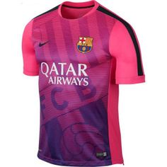 The new Nike FC Barcelona 2015 Pre-Match Kit introduces a spectacular design for the Catalan club. The FC Barcelona 2015 Training II Shirt is purple. Soccer Kits, Football Kits, Football Jerseys, Sports Logo, Sports Shirts, Sports Fonts, Barcelona Shirt, Barcelona 2015, Sports Jersey Design