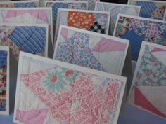 Vintage Quilt Note Cards by bugsie on Etsy. I like this idea!