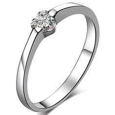 CloseoutWarehouse Square Center Micro Pave Cubic Zirconia Sides Ring Rhodium Plated Sterling Silver