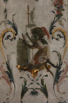 Appartements des Princes de Condé - la Grande Singerie - allégorie de la sculpture