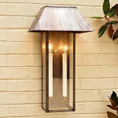 Modern Tower Outdoor Light - Shades of Light French door sconces Outdoor Wall Lighting, Exterior Lighting, Wall Sconce Lighting, Modern Lighting, Wall Sconces, Copper Frame, Modern Sconces, Light Shades, Light Up